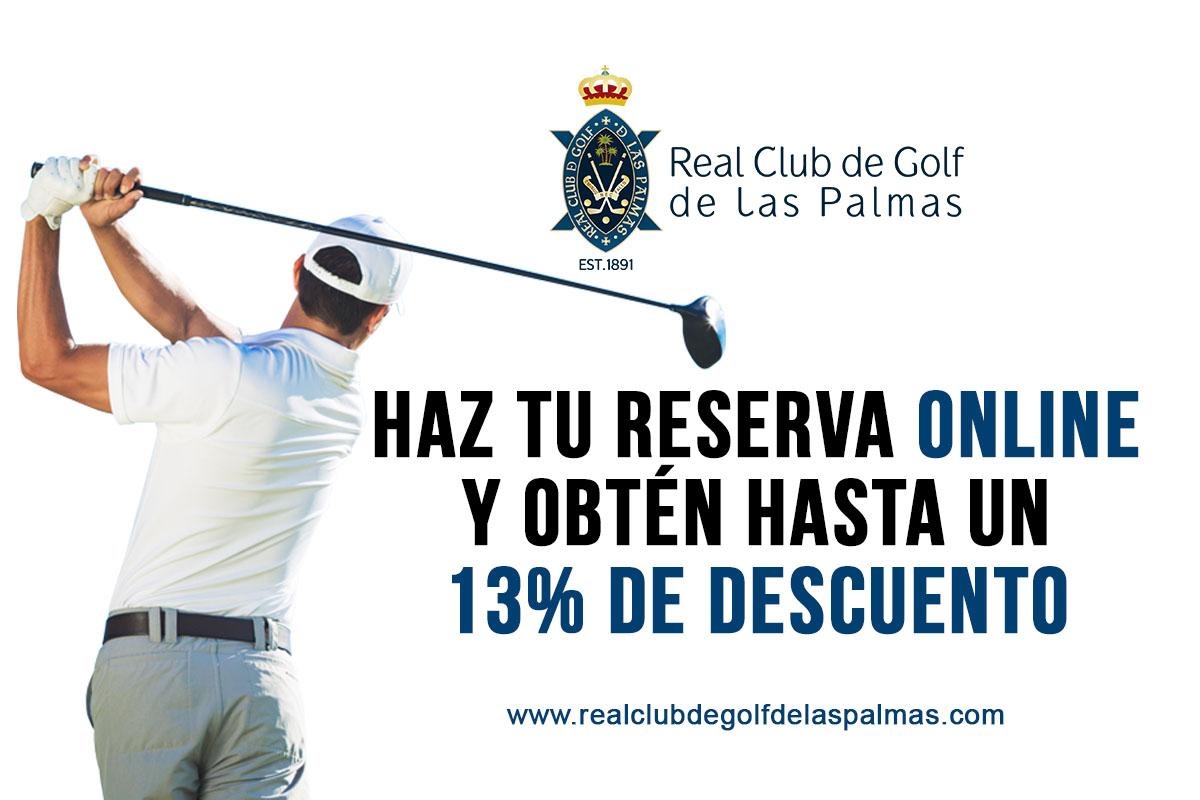 13% descuento - Real Club de Golf de Las Palmas